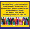 Motivational Message Crayons Poster