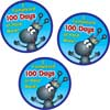 100th Day Hard Worker Certificate And Sticker Set