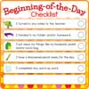 Beginning-And End-Of-The-Day Checklists Kit