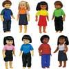 Multicultural Dolls - Set Of 8