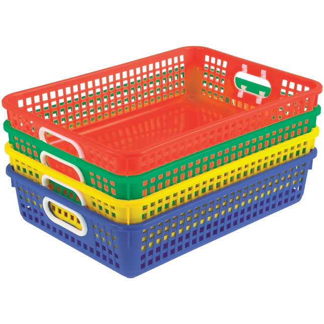 Classroom Paper Baskets - Primary Colors