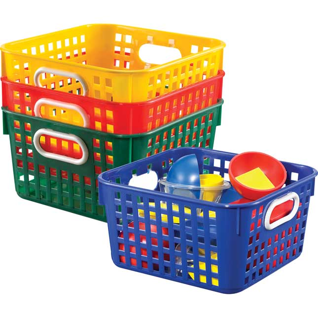 Book Baskets, Square - Primary Colors
