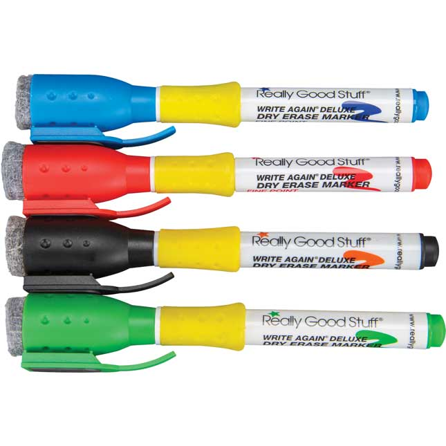 Deluxe Write Again® Colored Dry Erase Markers | Artwork | Amount ...