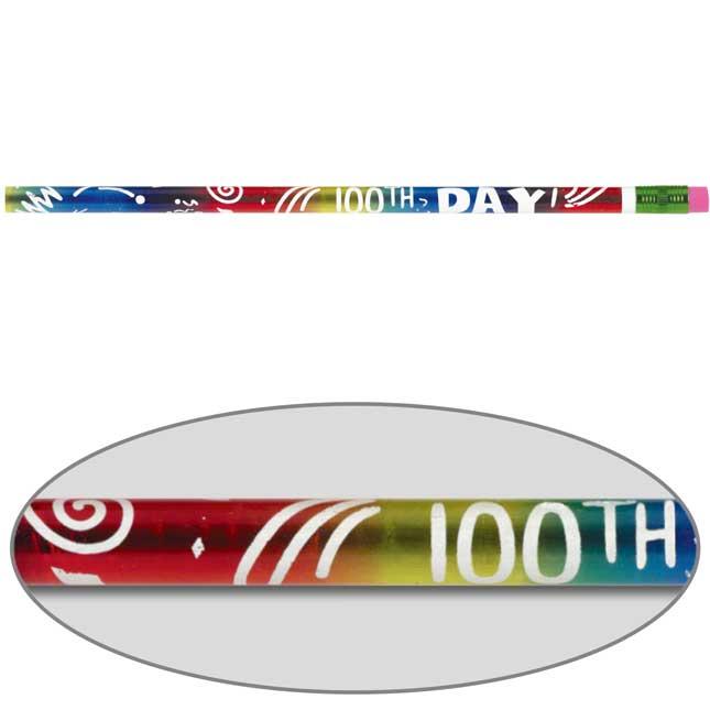 100th Day Pencil Holder With Pencil