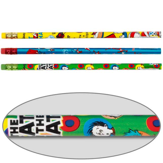 Cat In The Hat Pencils - 12 pack