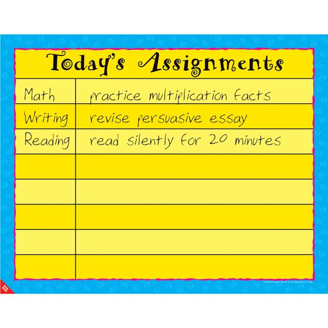 Daily Assignments Poster