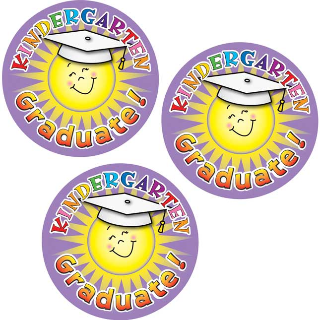 Kindergarten Graduate Stickers