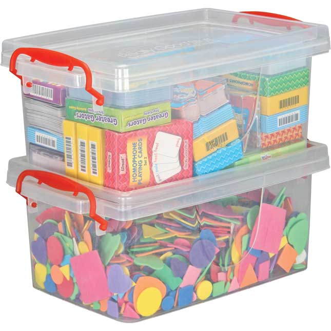 Stackable Storage Tubs With Locking Lids, Lg.