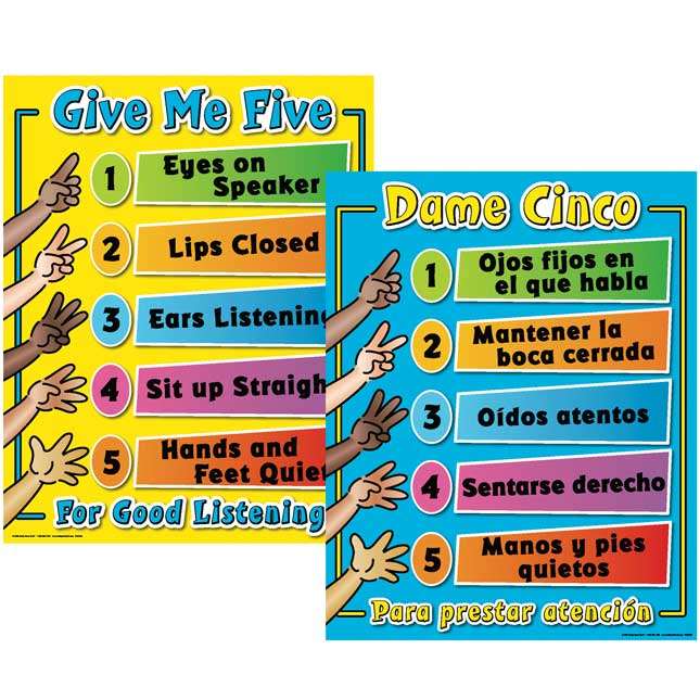 Give Me Five Poster - English/Spanish