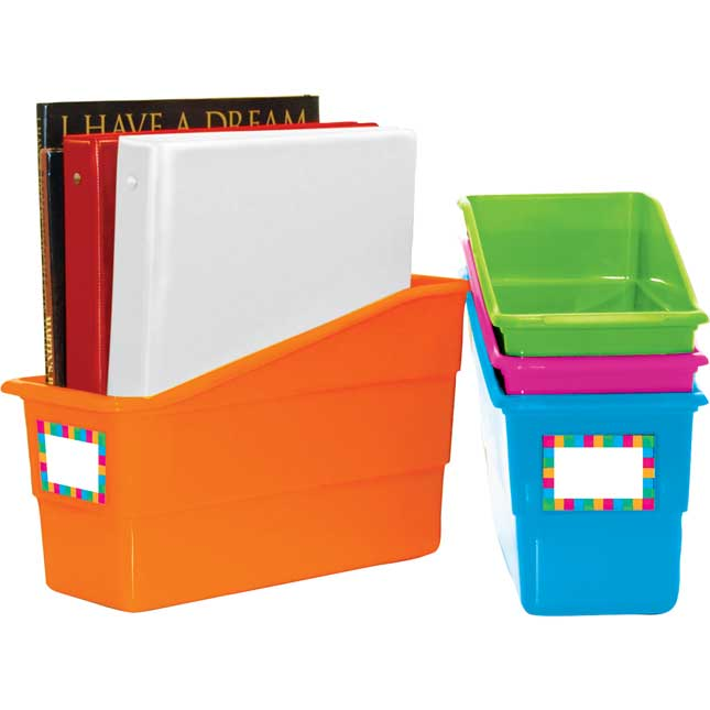 Durable Book And Binder Holders - Neon Colors