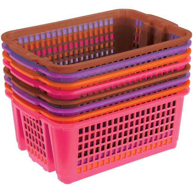 Classroom Stacking Baskets, Small -Earth Colors