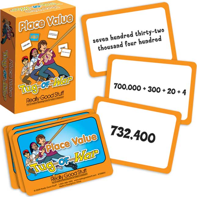 Really Good Tug-Of-War -The Mathematical Place Value Card Game