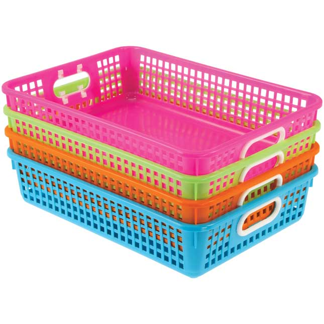 Classroom Paper Baskets - Neon Colors