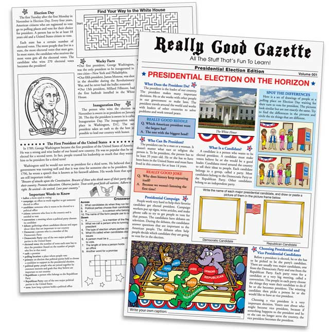 Really Good Gazette - Presidential Elections