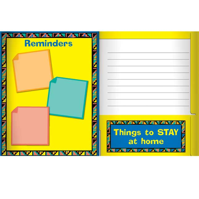 Send It Home-It Comes Back Boomerang 4-Pocket Folders