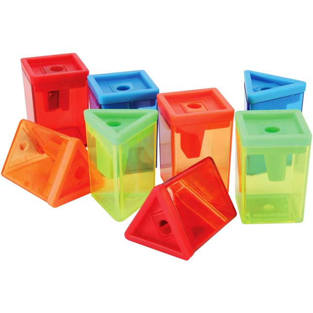 Geoshapes Pencil Sharpeners - 24 Pack