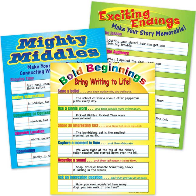 Bold, Mighty, And Exciting Writing Poster Set
