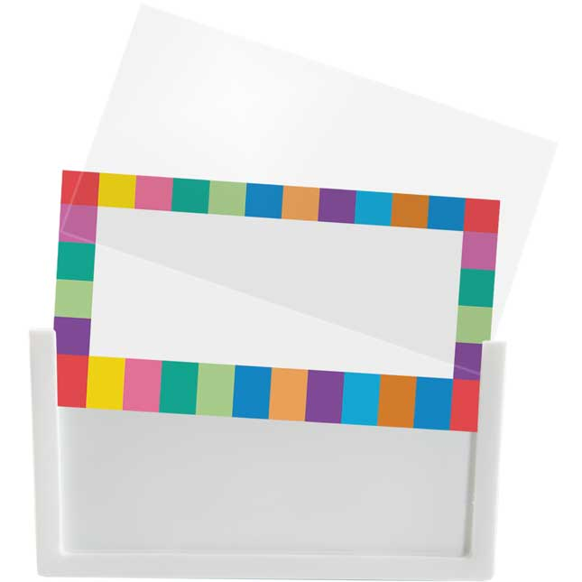 Universal Basket And Bin Label Holders With Labels