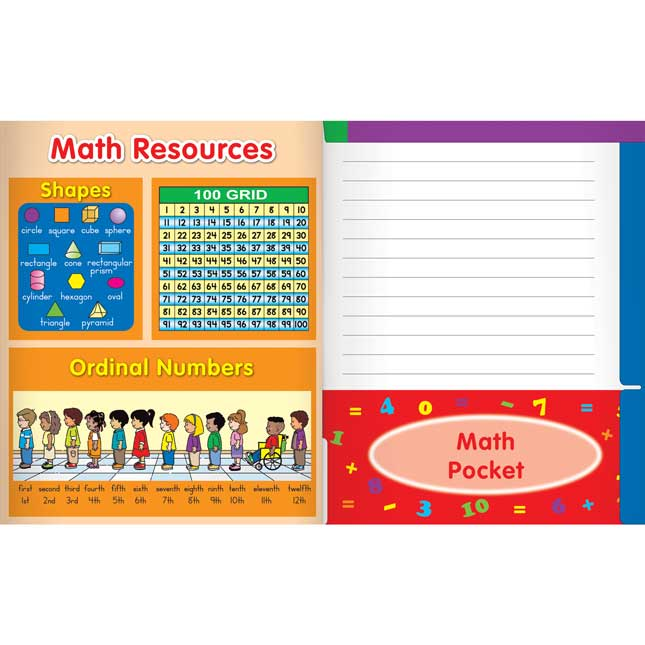 All-In-One Subjects 4-Pocket Folders - Set of 12