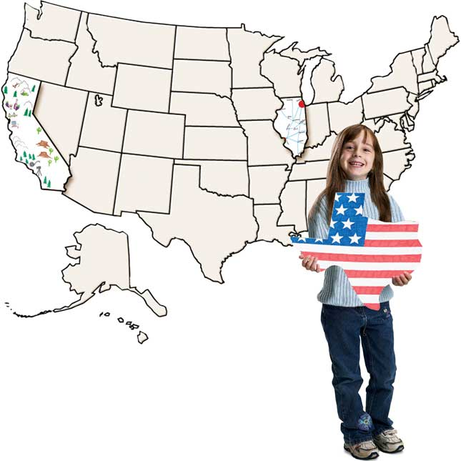 USA Jumbo Collage Map