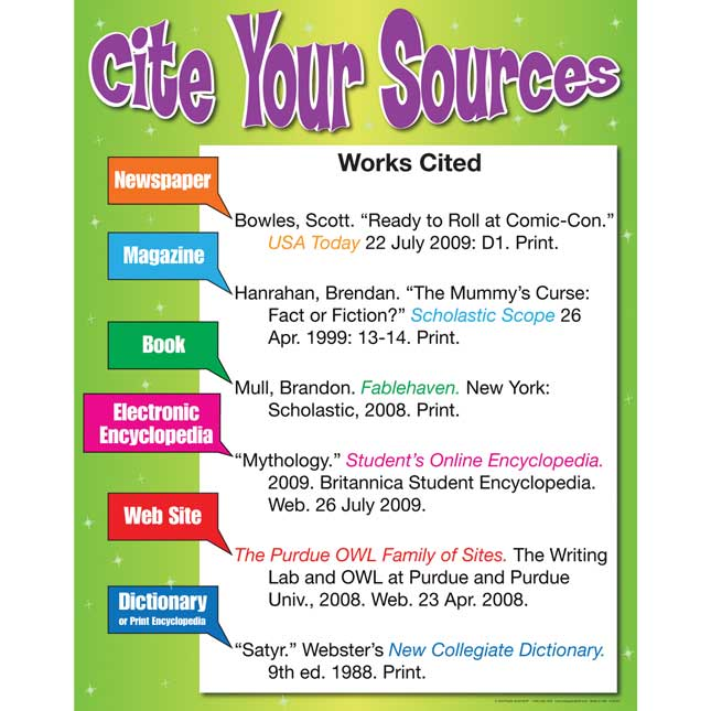 Cite Your Sources Poster