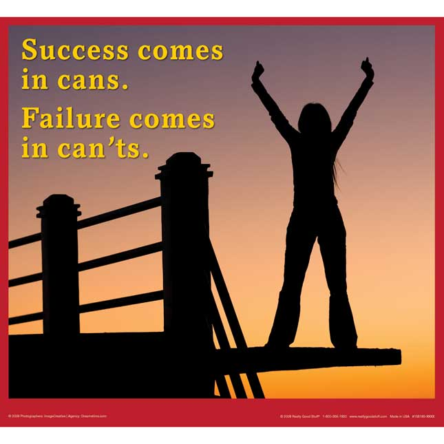 Success Comes In Cans Poster