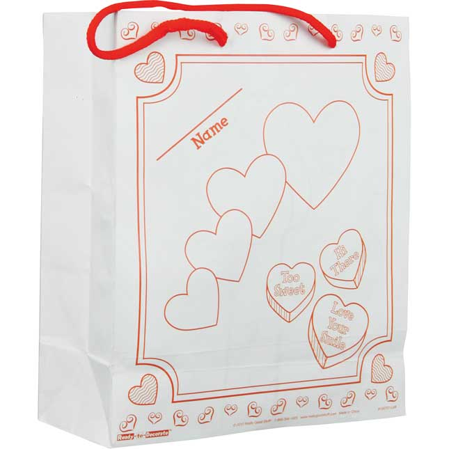 Ready-to-Decorate® Collect And Carry Valentine's Day Bags