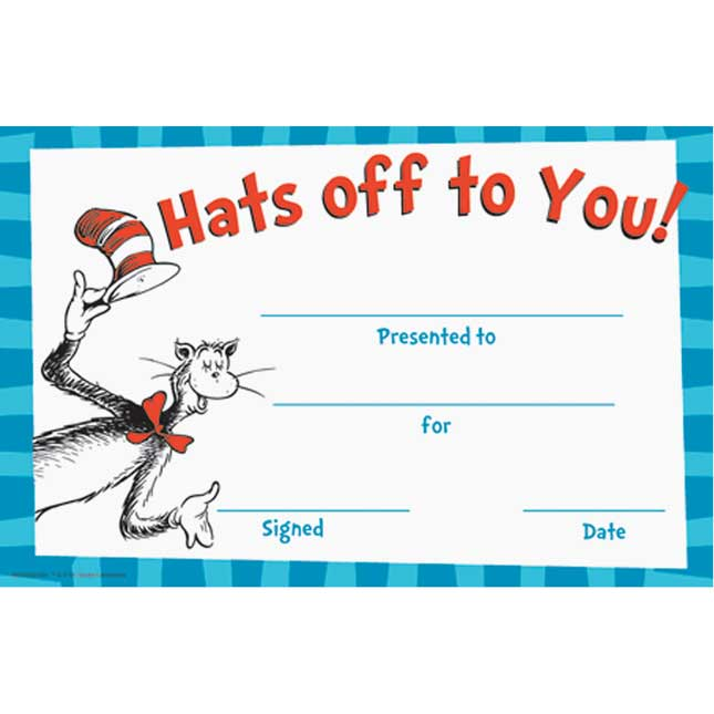 Dr. Seuss™ Hats Off To You! Recognition Awards