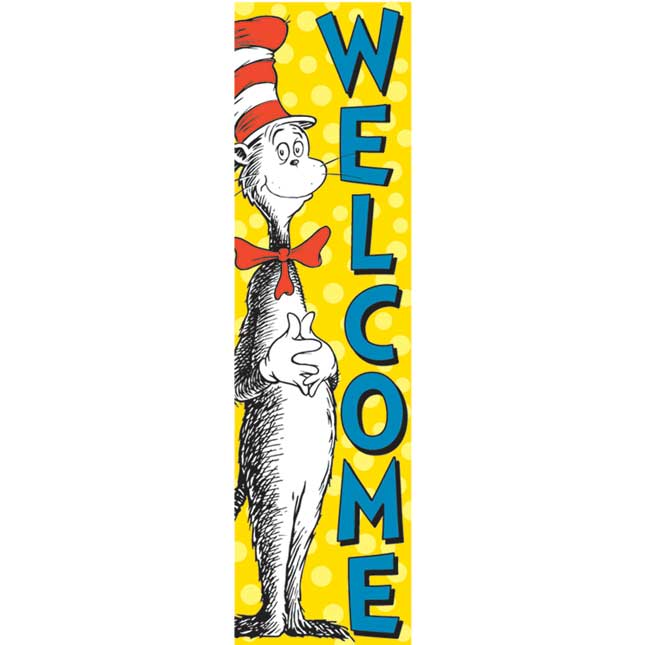 Dr. Seuss™ Cat In The Hat Welcome Vertical Banner