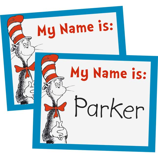 Dr. Seuss™ Cat In The Hat Name Tags
