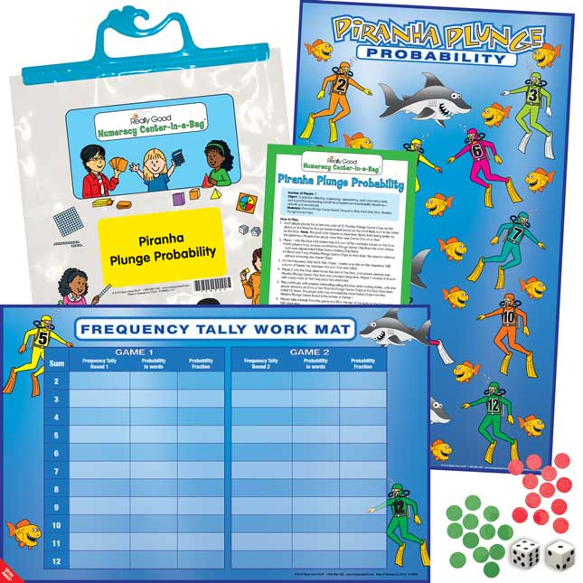 Numeracy Center-In-A-Bag™: Piranha Plunge Probability