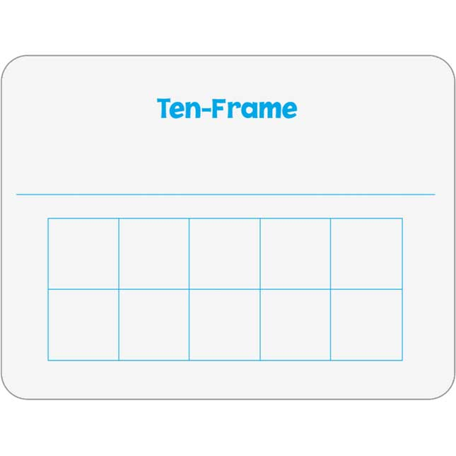 Ten-Frame And Part-Part-Whole Two-Sided Dry Erase Board Set