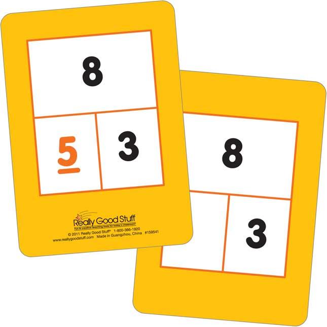Number Sense Flash Cards