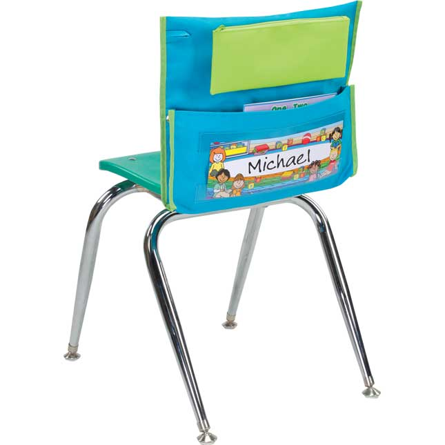 Store More® Deluxe Chair Pockets, Early Childhood, Teal - Set Of 36