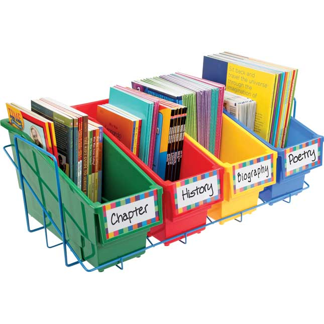 Durable Book and Binder Holders With Stabilizer Wing Storage Rack - Primary