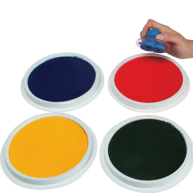 Washable Paint/Ink Stamp Pads - Set Of 4
