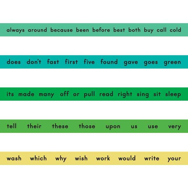 Sight Word Bracelets - Second Grade