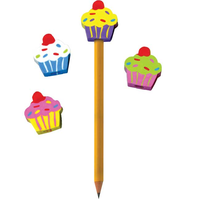 Cupcake Pencil Topper Erasers