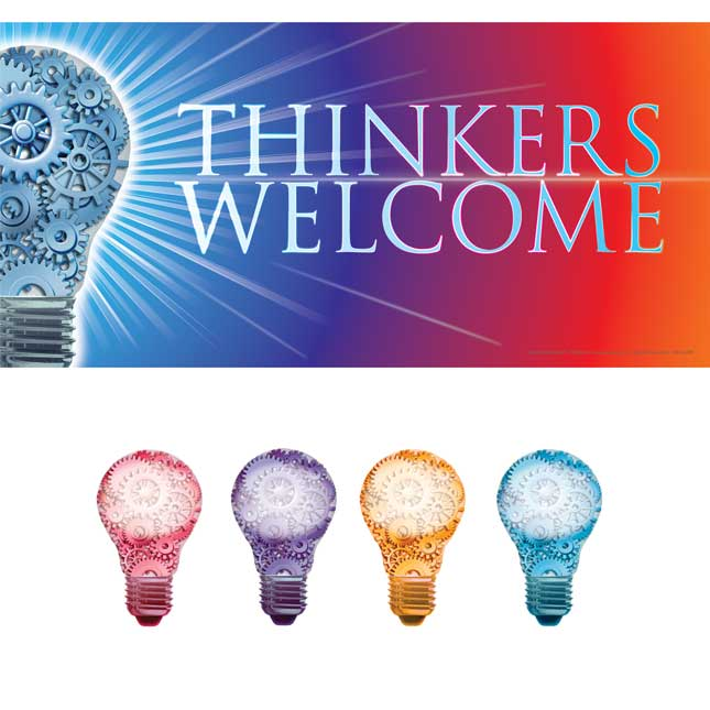Thinkers Welcome! EZ Stick™ Door Sign And Student Name Pieces
