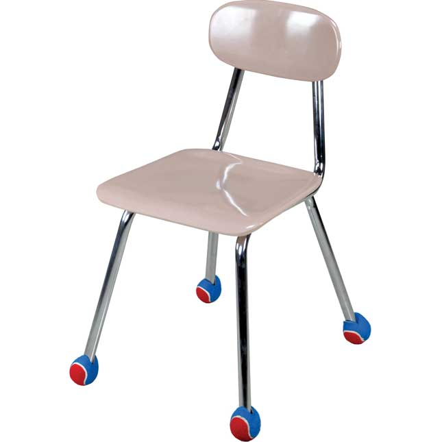 Quiet Chair Stay-Put Foot Covers - Set Of 144 - Red/Blue