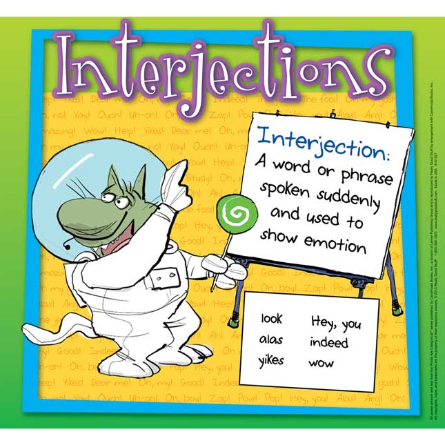 Words Are CATegorical® Conjunctions, Interjections, Contractions Poster Set