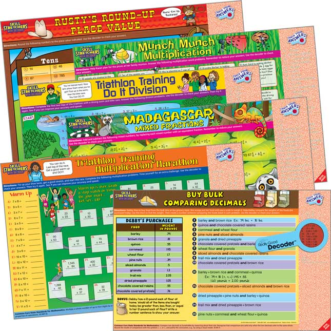 Skill Stretchers With Decoders™ Grade 4 Math Kit