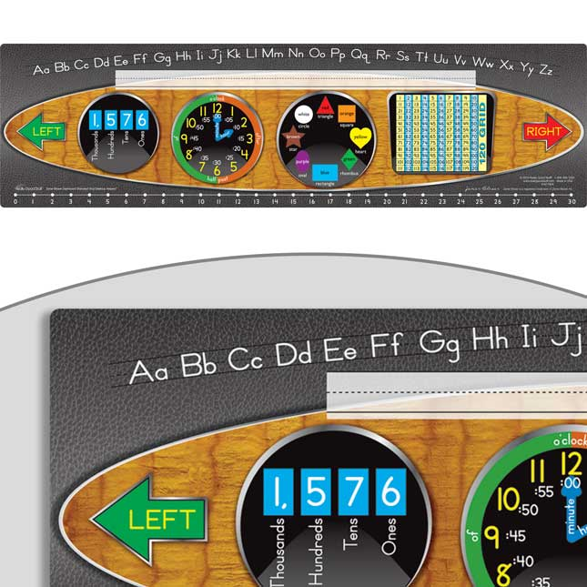 Zaner-Bloser Dashboard Self-Adhesive Vinyl Desktop Helpers™ With 120 Grid
