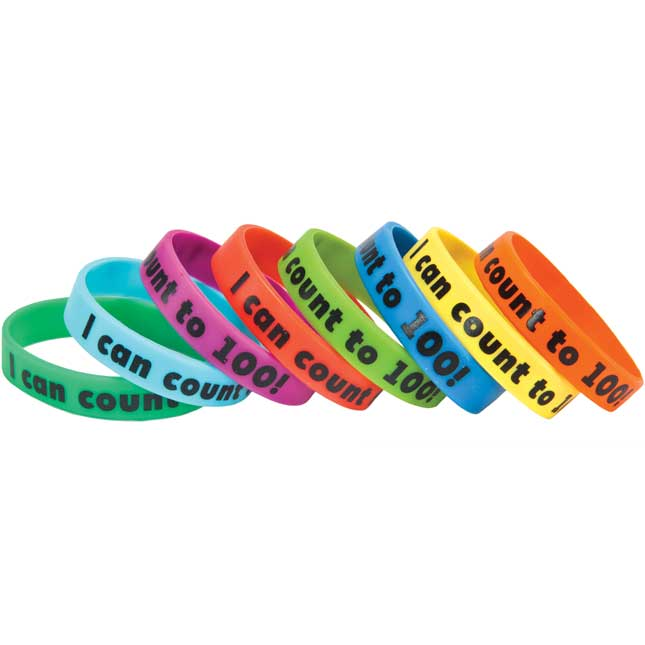 I Can Count To 100! Silicone Bracelets