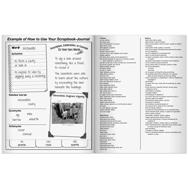 Vocabulary Acquisition And Use Scrapbook-Journals