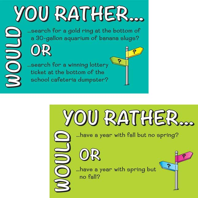 Would You Rather...Opinion Writing Prompts