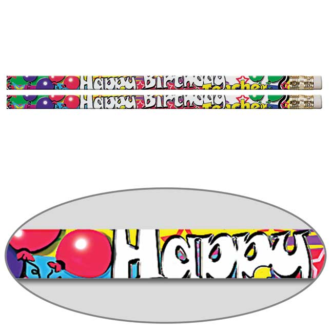 Happy Birthday From Your Teacher Pencils - Balloons