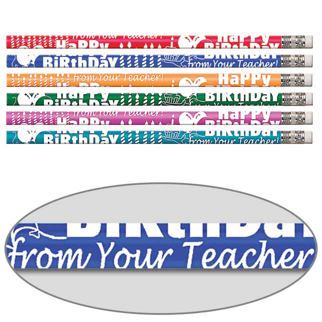 Happy Birthday From Your Teacher Pencils