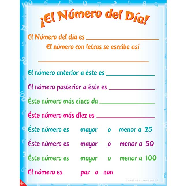 Explore The Number Of The Day - In Spanish