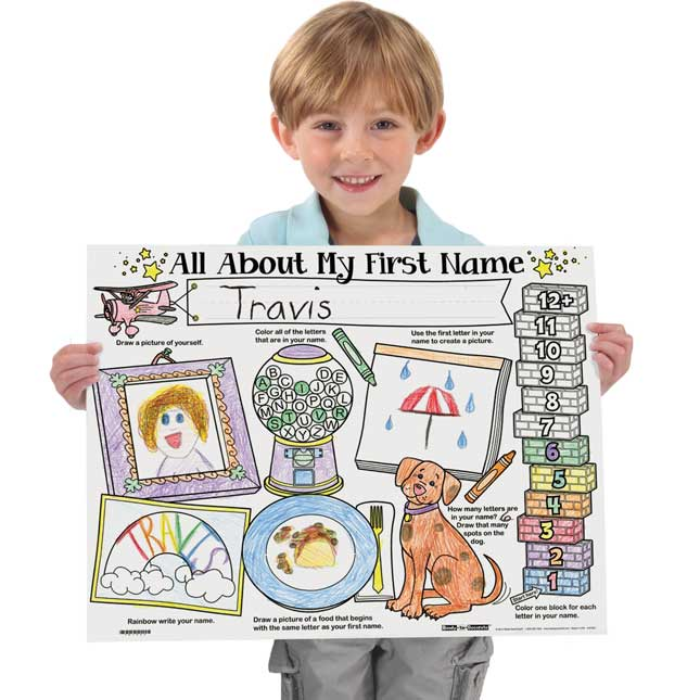 Ready-To-Decorate® My First Name Posters